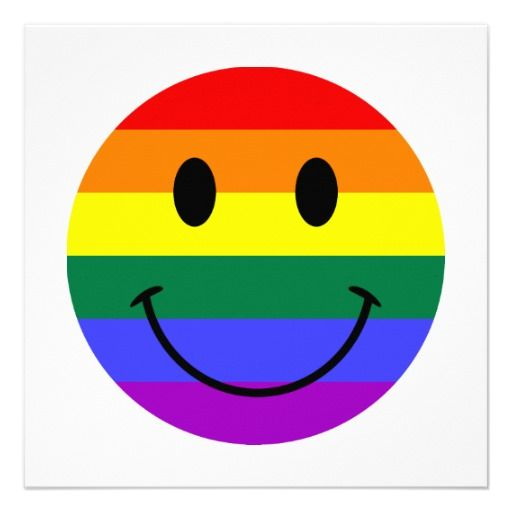 Rainbow Smiley Face Personalized Announcement | Rainbow ...