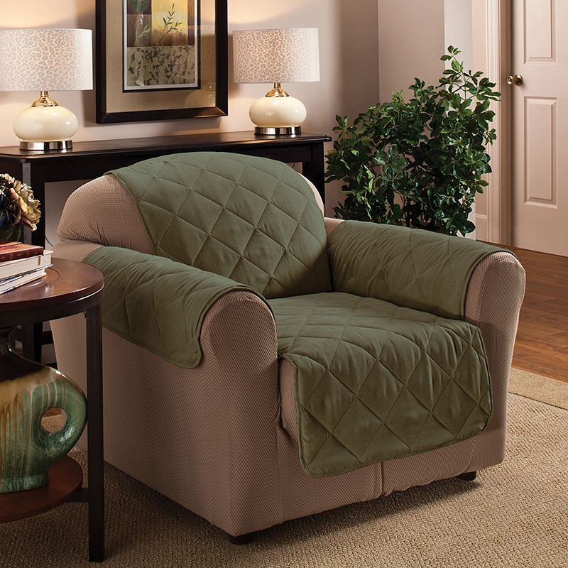 Innovative Textile Solutions Suede Chair Protector Green