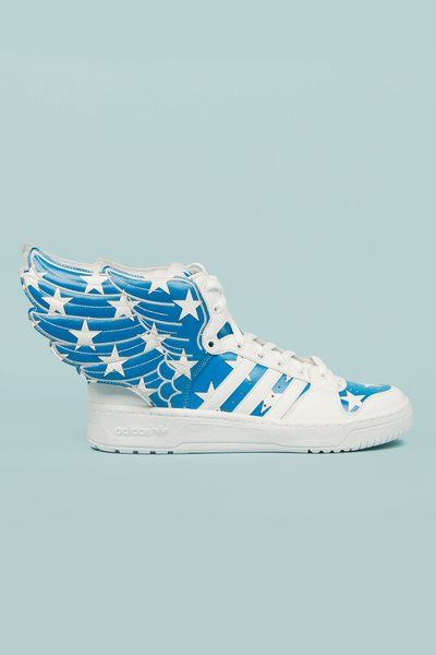 Jeremy Scott x Adidas. Sneakers with Wings!  Love them!! $220