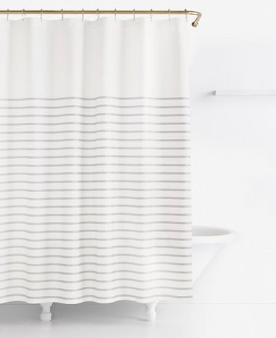 Kate Spade New York Harbour Stripe Shower Curtain Shower Curtains Accessories B Striped Shower Curtains Bathroom Shower Curtains Farmhouse Shower Curtain