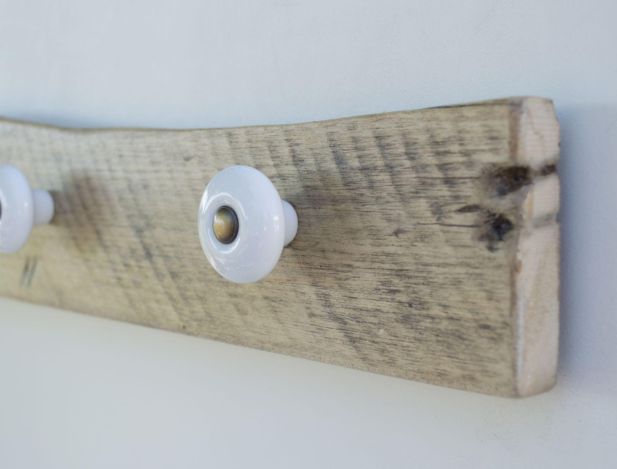 Colgador Tiradores De Porcelana Madera Reciclada De Pal  ~ Manualidades De Madera Reciclada