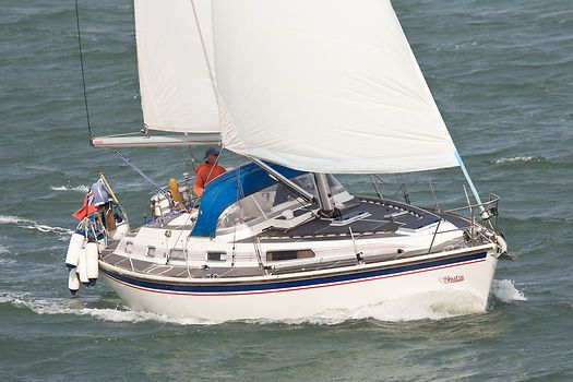 The Westerly Oceanranger 'Shiatsu' sailing in the Solent