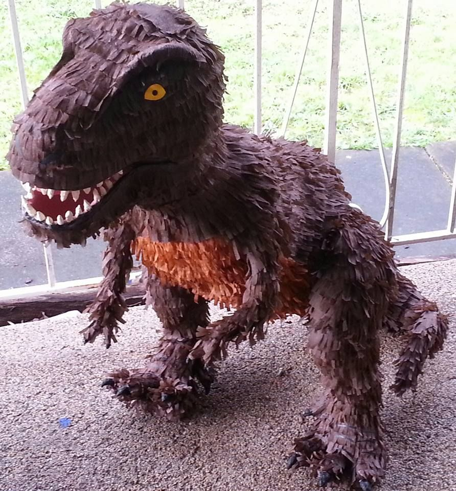 T-Rex/Dinosaur Piñata. It Came To About 80cm In Height