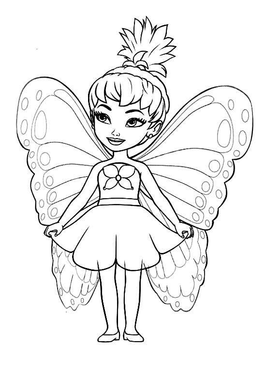 Printable Cute Little Fairy Coloring Pages Kidsdrawing Free Online