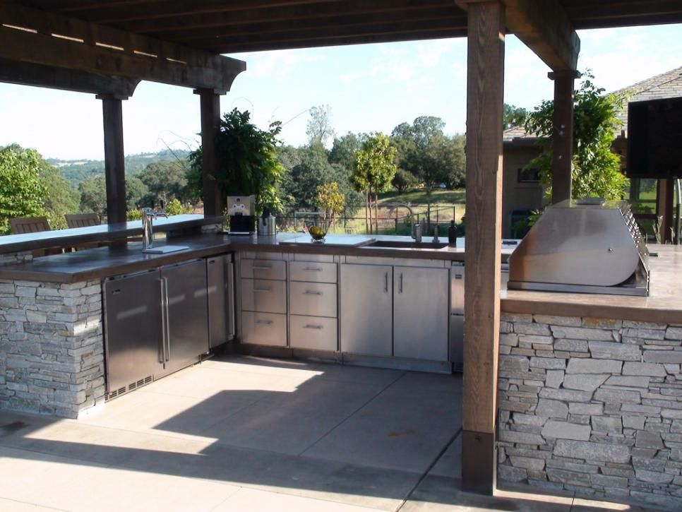 Outdoor Kitchen Ideas Deck patio, Countertops and Patios