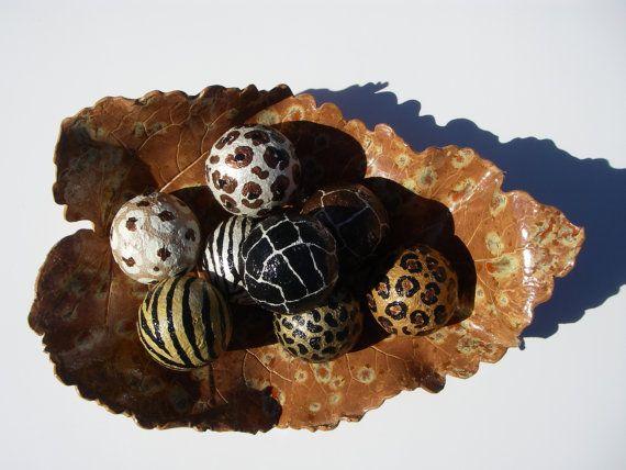 Leopard Decorative Balls Simple Animal Print Leopard Zebra Decorative Art Balls Setartbouquet Decorating Inspiration