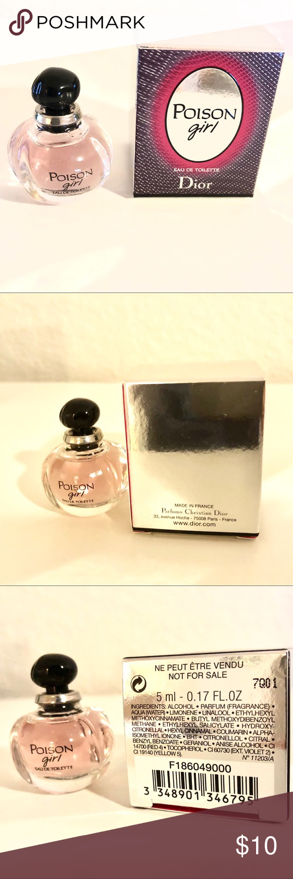 Dior Poison Girl Eau De Toilette Travel Size New Nwt My Posh Picks