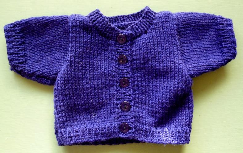 Basic Cardigan for Cabbage Patch Kids Free Pattern