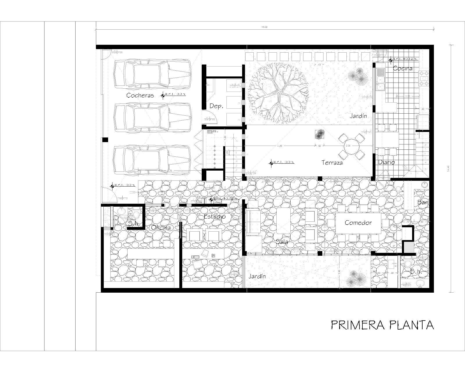 La forma moderna en la arquitectura casas patio 2 - Planos de casas con patio interior ...