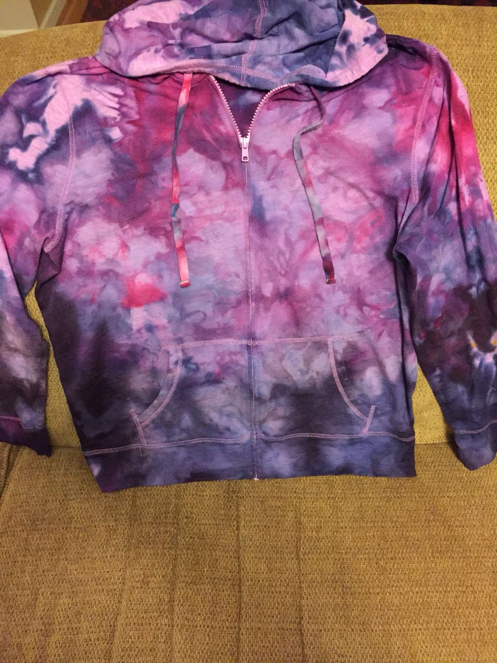 Ice Dyed Hoodie We Used Dye From Bestdye Com The Hoodie Was A Lilac Color To Start With And We Added Tie Dye Black Clothes Tie Dye T Shirts How To [ 1334 x 1000 Pixel ]