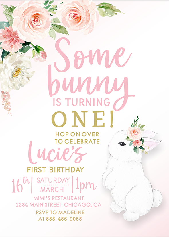 some bunny is one invitation bunny