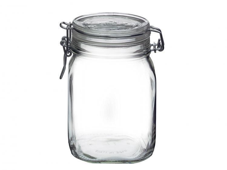Bormioli Rocco Set Of 6 Glass Jars Trust Transparent Airtight Lid Cc1000 Jar Glass Storage Jars Jar Storage