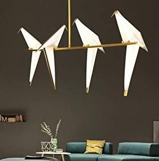 Photo of origami bird light fixture