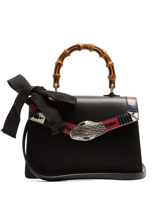 Gucci Lilith Small Bamboo Handle Leather Bag