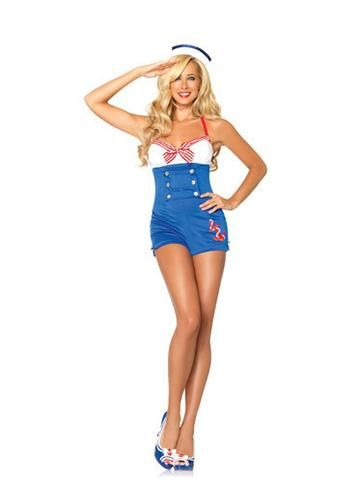 39e78a4f281 Sexy Sailor Romper Teddy Suit Pin Up Girl
