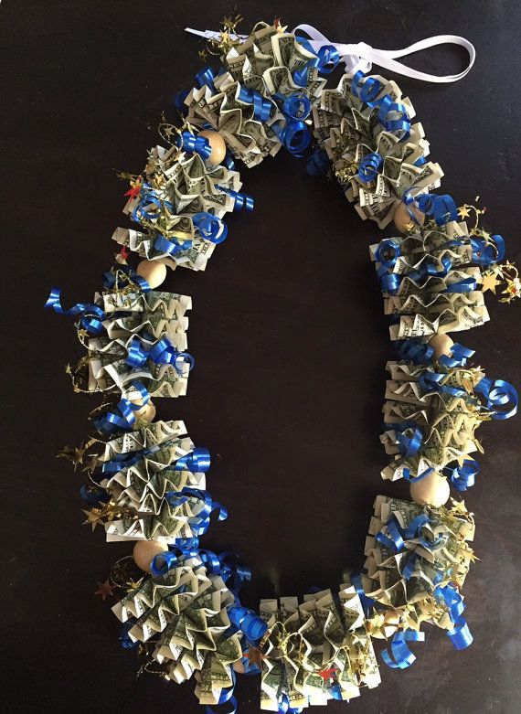 Money Lei Made Of 50 1 Dollar Usd Bills By Createdbylorraine