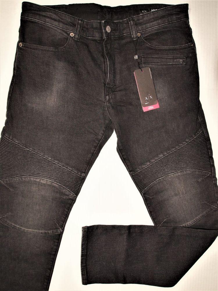 3f3ac200 Armani Exchange men's jeans size 38X32 slim fit moto design ...
