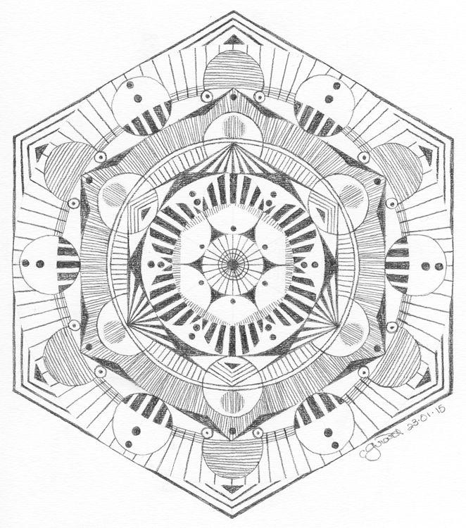 Sketch Claudelle Girard Mandala Pattern Mandala Coloring Contest