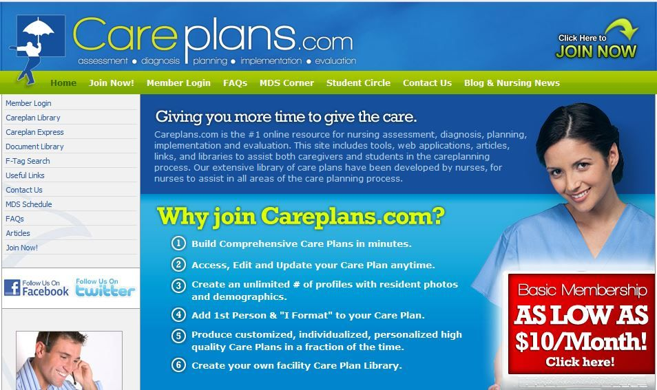 On line care plan writer with thousands of combinations of issues - care plan
