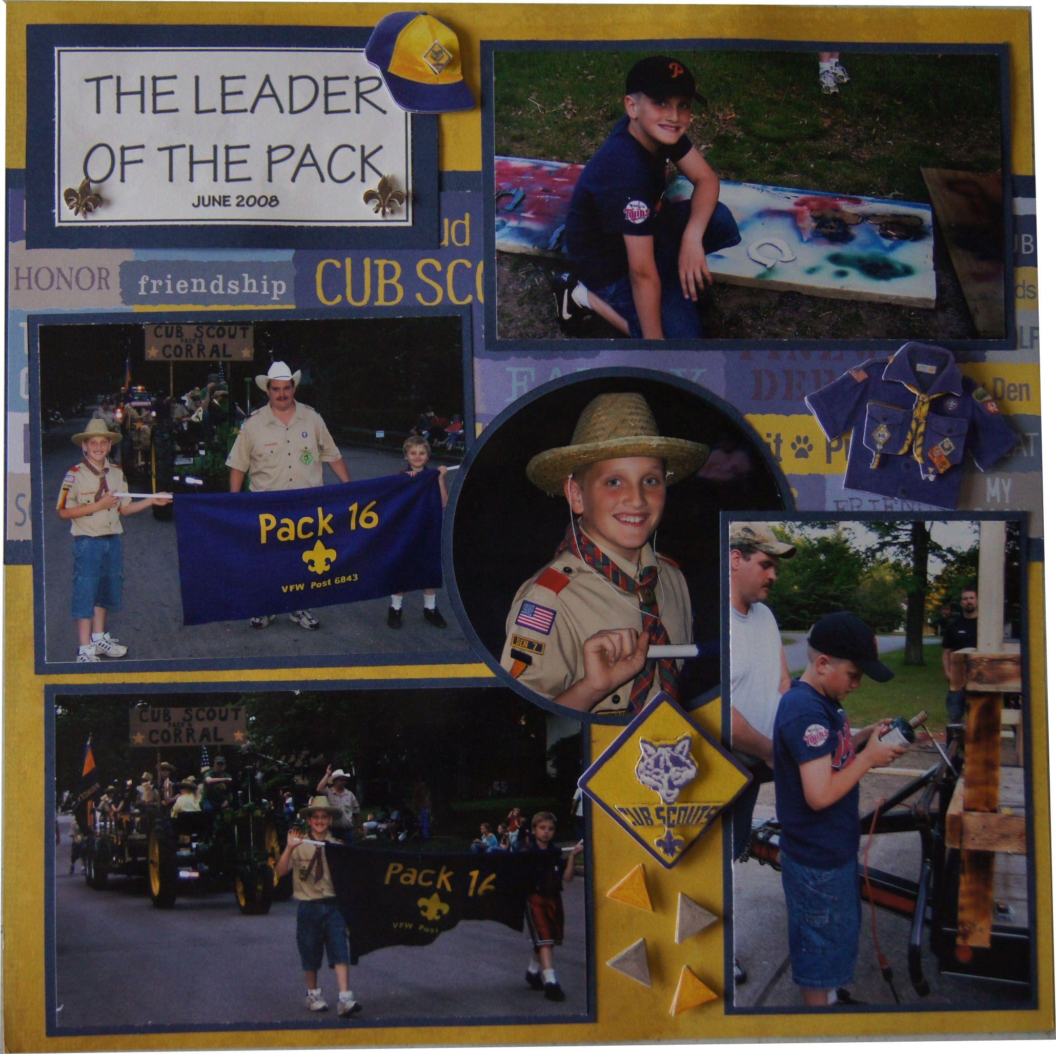 Girl scout scrapbook ideas - Scouts Scrapbook Layout