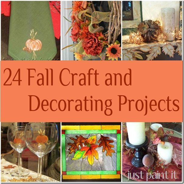 24 craft & decorating ideas for fall - flowers, paint, mantels, and more!