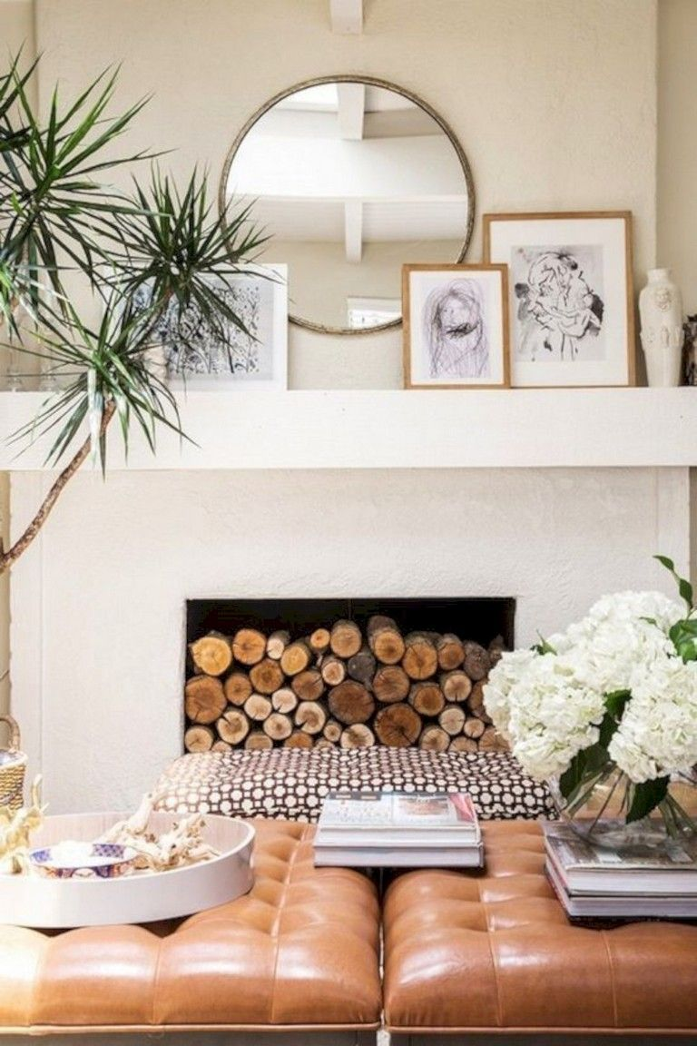 40 Beautiful Apartment Fireplace Decor Ideas Coastal Decorating Living Room Costal Living Room Coastal Living Room