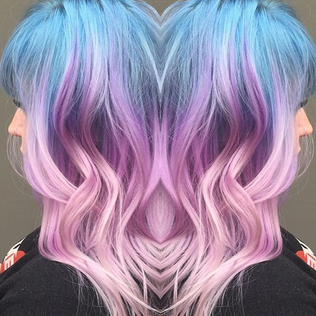 Vegan Cruelty Free Color On Instagram Gorgeous Pastel Color Melt Inspiration By Hairbyginaolivia Ar Blue And Pink Hair Hair Inspiration Color Ombre Hair