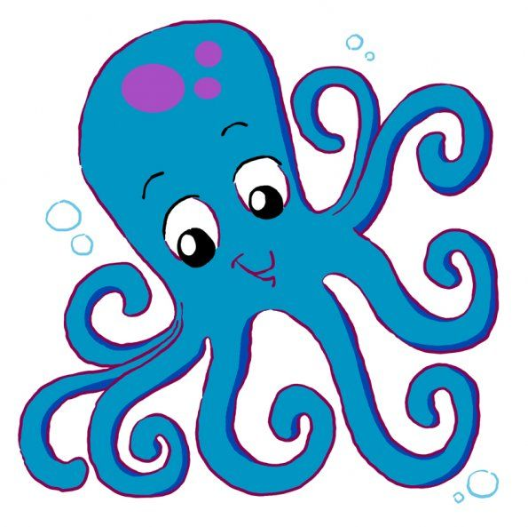 cartoon octopus coloring pages clipart free clip art images image rh pinterest co uk