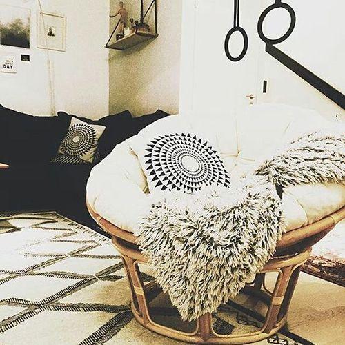 Cozy Papasan Chair Reading Nook