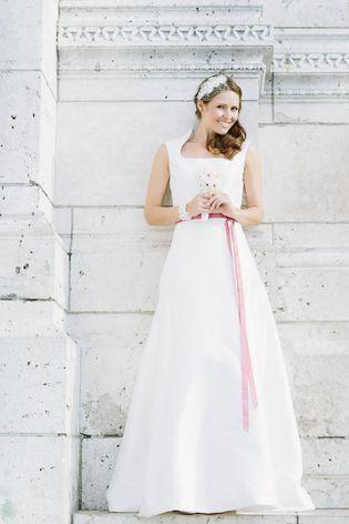 Brautkleid schlicht, mit Überrock | Queens