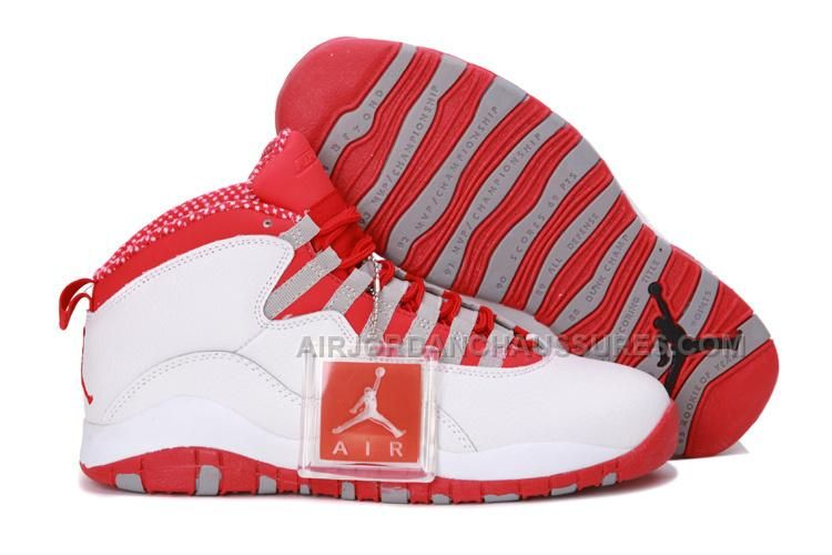 top fashion a7206 e8377 ... hot nike air jordan 10 x retro mens shoes white varsity red steel grey  all kinds