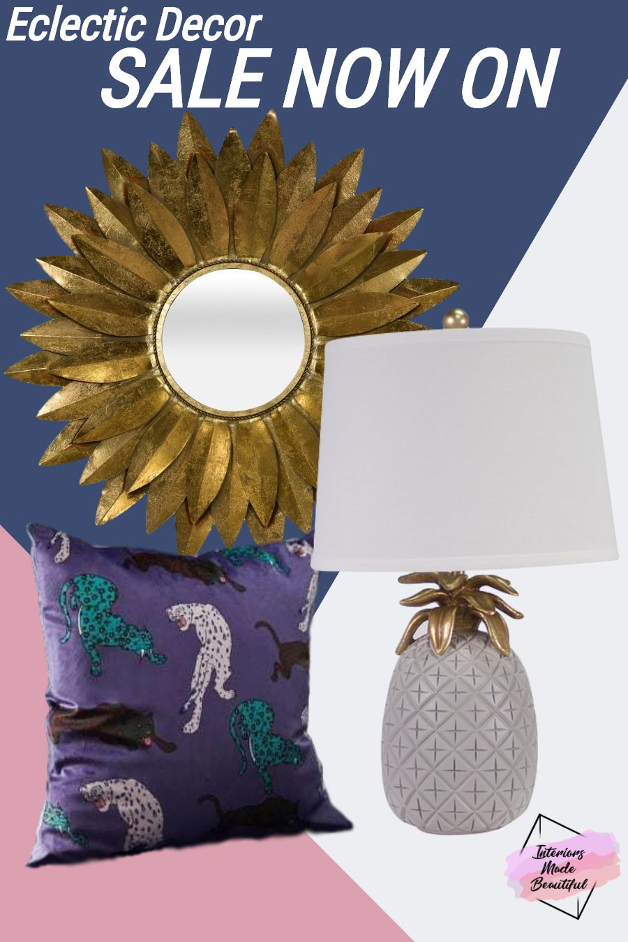 Find a wide range of eclectic decor at Interiors Made Beautiful. **SALE NOW ON** #eclecticdecor #homedecor #eclecticstyle