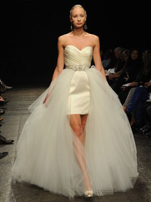 Convertible Dress Detachable Train By Belt My Attachment To Be Made Of Feathers And Tulle