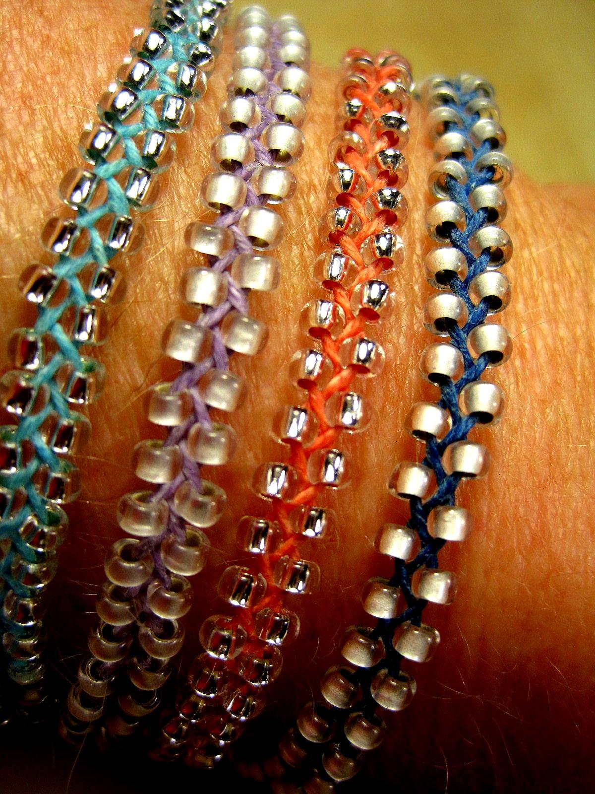 Braided Beaded Bracelets In 2020 Diy Bracelets Jewelry Projects Beaded Bracelets