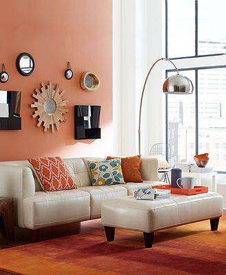 Alessia Leather Sofa Living Room Furniture Collection At Macy S