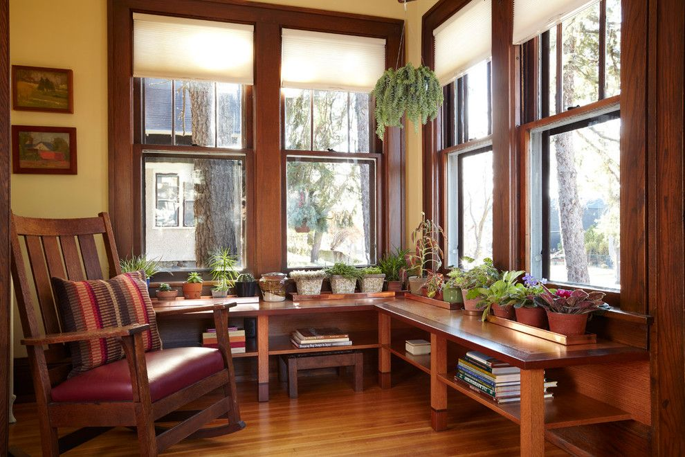 Craftsman style window treatments photos ideas for Window covering ideas for sunrooms