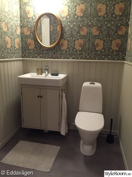 Br stpanel p rlspont william morris pimpernel tapet for Toilet inspiration