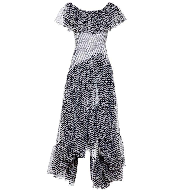 70s Yves Saint Laurent Silk Gown Evening Dresses Vintage Clothes Design Fashion