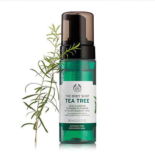 Tea Tree Skin Clearing Foaming Cleanser Body Shop Tea Tree Skin Cleanser Products Foam Cleanser