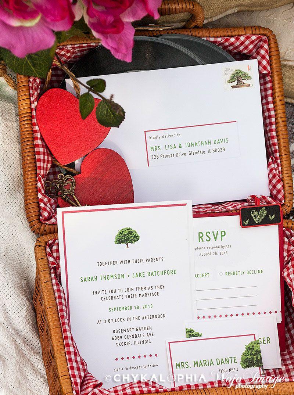 DIY Picnic Garden Wedding Invitation Set | Dining - Outdoor Picnic ...