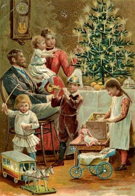 a victorian christmas morn weihnachten nostalgie. Black Bedroom Furniture Sets. Home Design Ideas