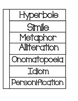 Figurative Language Foldable For Interactive Notebooks   Figurative,  Definitions And Language