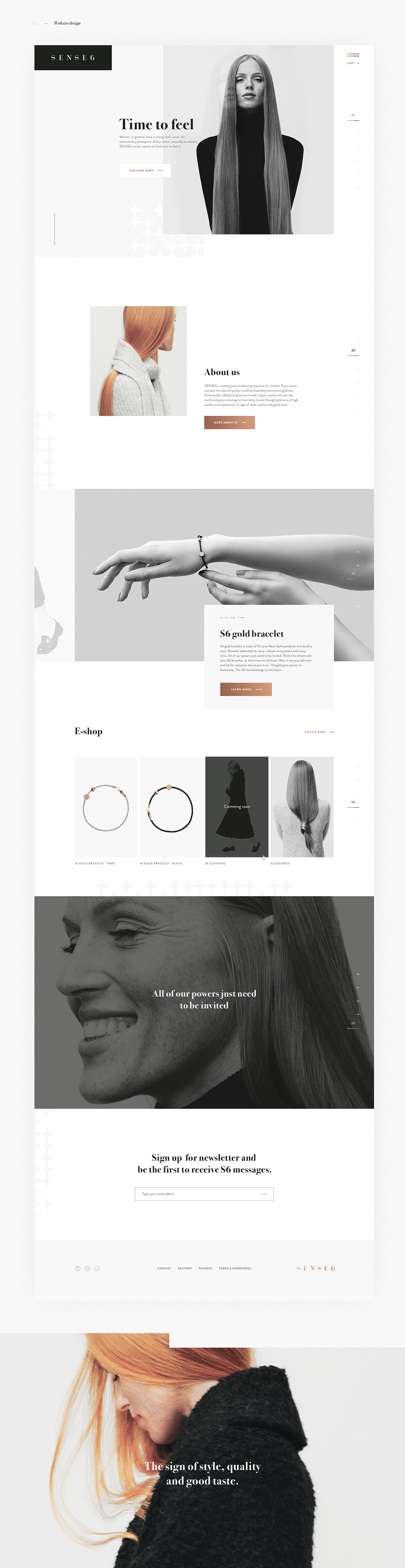 Sense fashion website design on behance webdesign pinterest