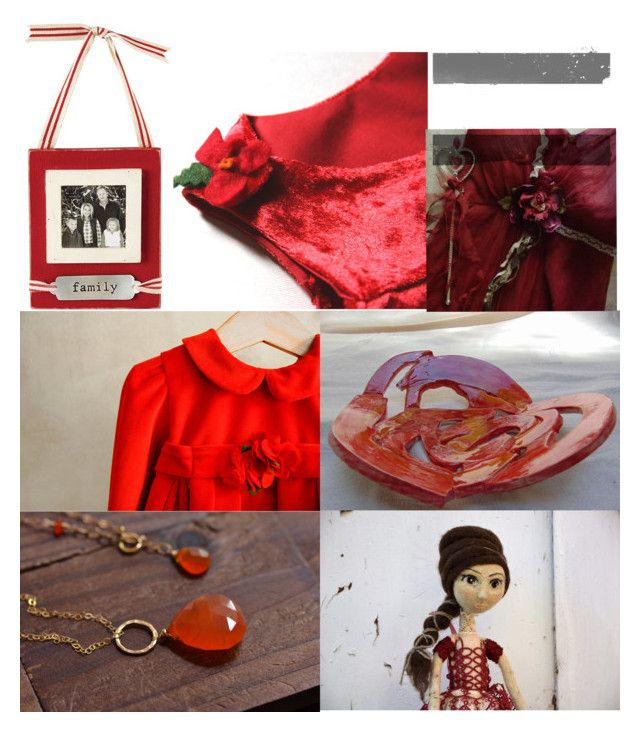 """red memories"" by paola-pabu ❤ liked on Polyvore featuring Vietri and Mud Pie"