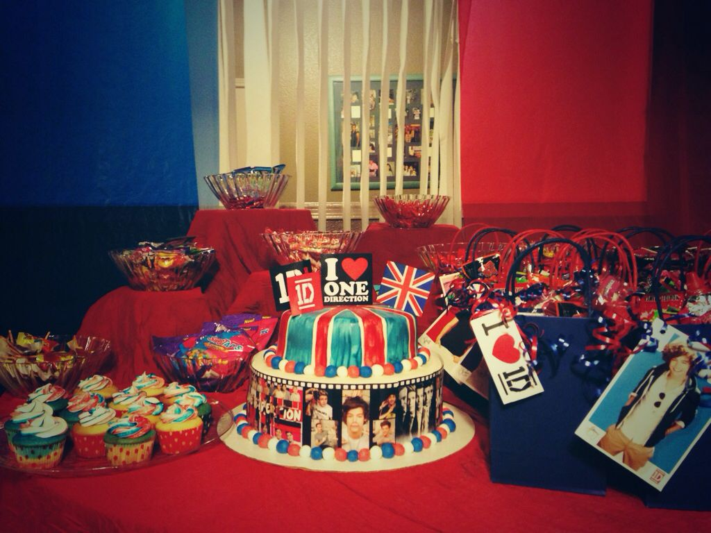 One Direction Themed Birthday Party One Direction Birthday One Direction Party One Direction Themed Party