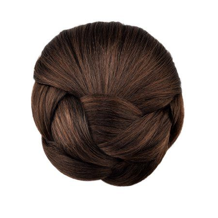 Braided Hair Chignon Synthetic Hair Bun Hairpiece Clip In Hair Buns Hair Pieces Bun Brown Walmart Com Fake Hair Pieces Hair Pieces Fake Hair Buns