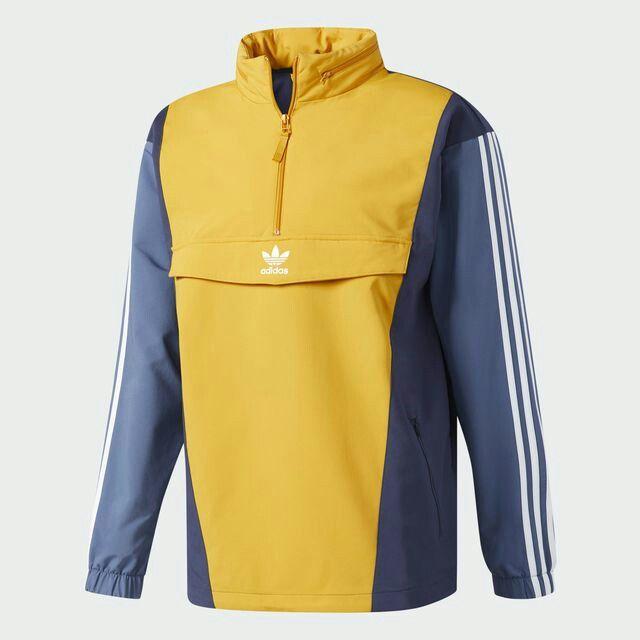 Casaco Moletom Adidas Azul amarelo  6df4759c281a7