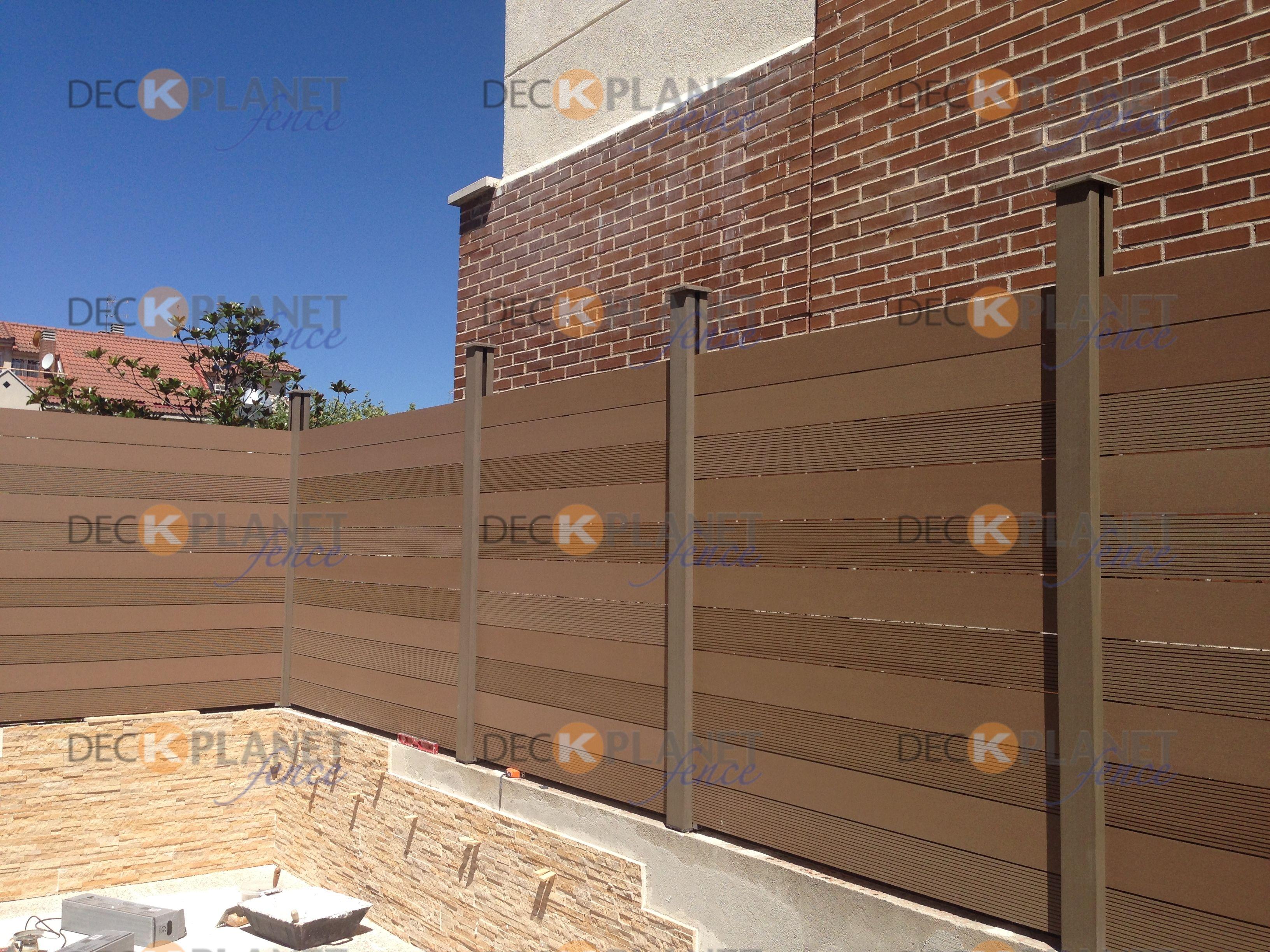 Vallas de madera sint tica para cerramientos cercados - Terrazas de madera ...