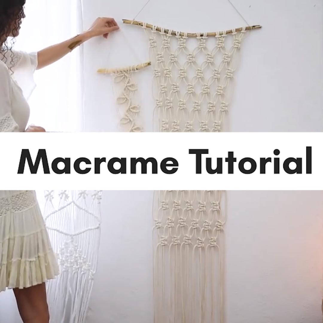 Photo of Simple macrame tutorial (video!)