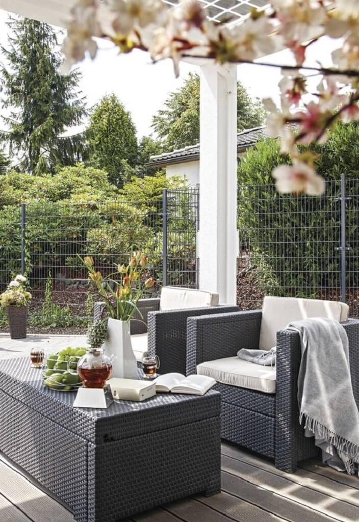 Uberlegen Einfamilienhaus Garten Terrasse City Life   Haus 250_WeberHaus   Gartenterrasse  Dekoration Gemütlich Modern Einrichten Grau Weiß